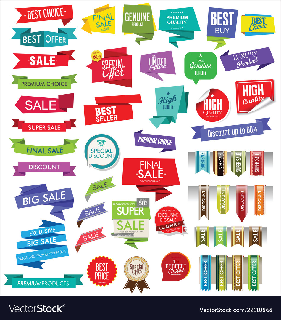 Modern sale banners and labels collection 10