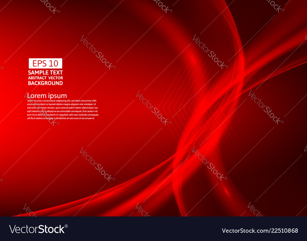 Red color waves abstract background design