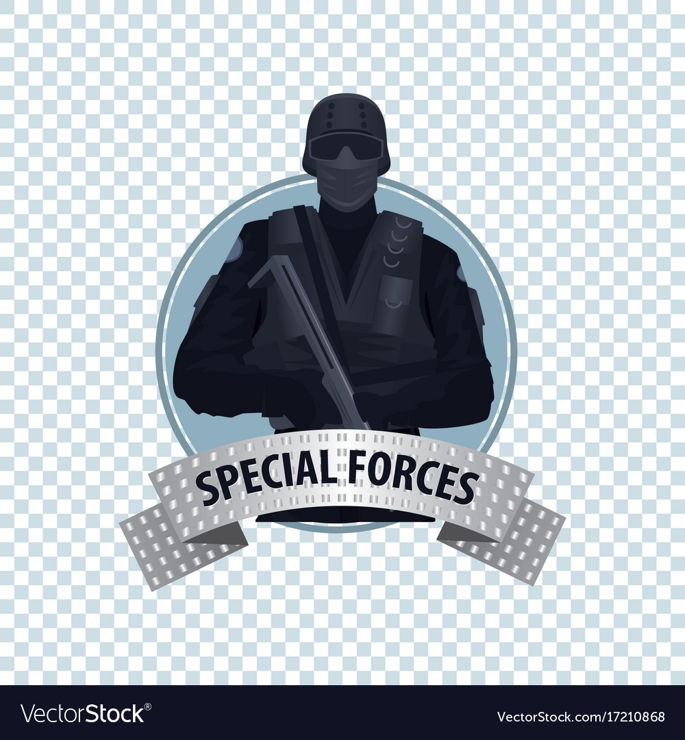 Round icon with special law enforcement unit