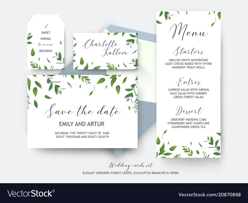 Wedding save the date place card label cards