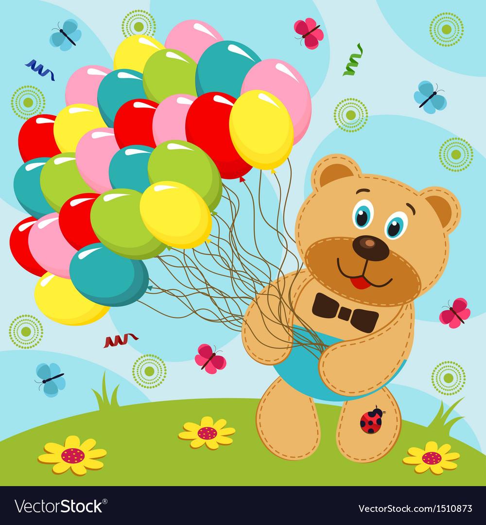 Открытки шары и медведи, открытки
