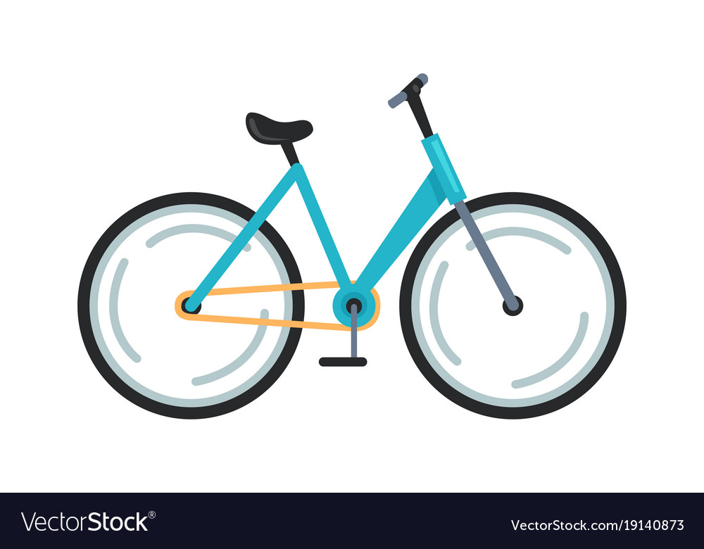 Bicycle icon colorful vector image