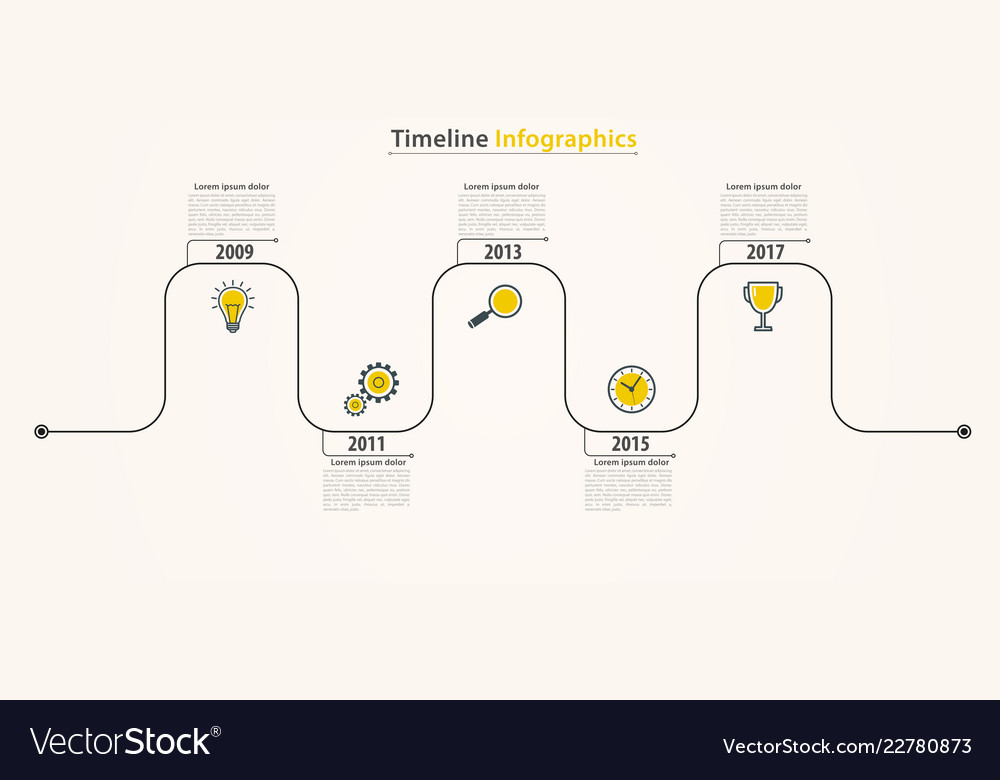 Business timeline infographics working process