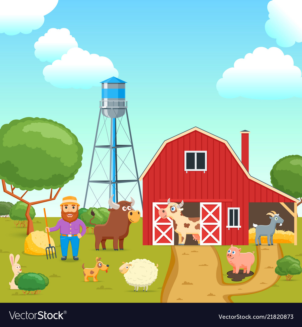 Cartoon agricultural concept 03