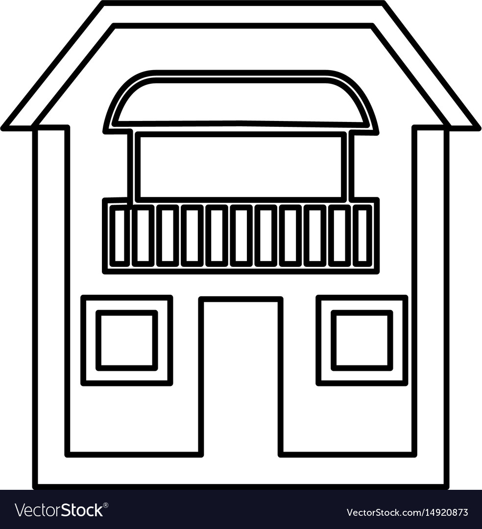 Home draw house vector image