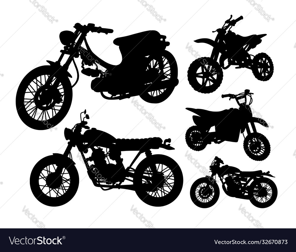 Motorbike transportation silhouette