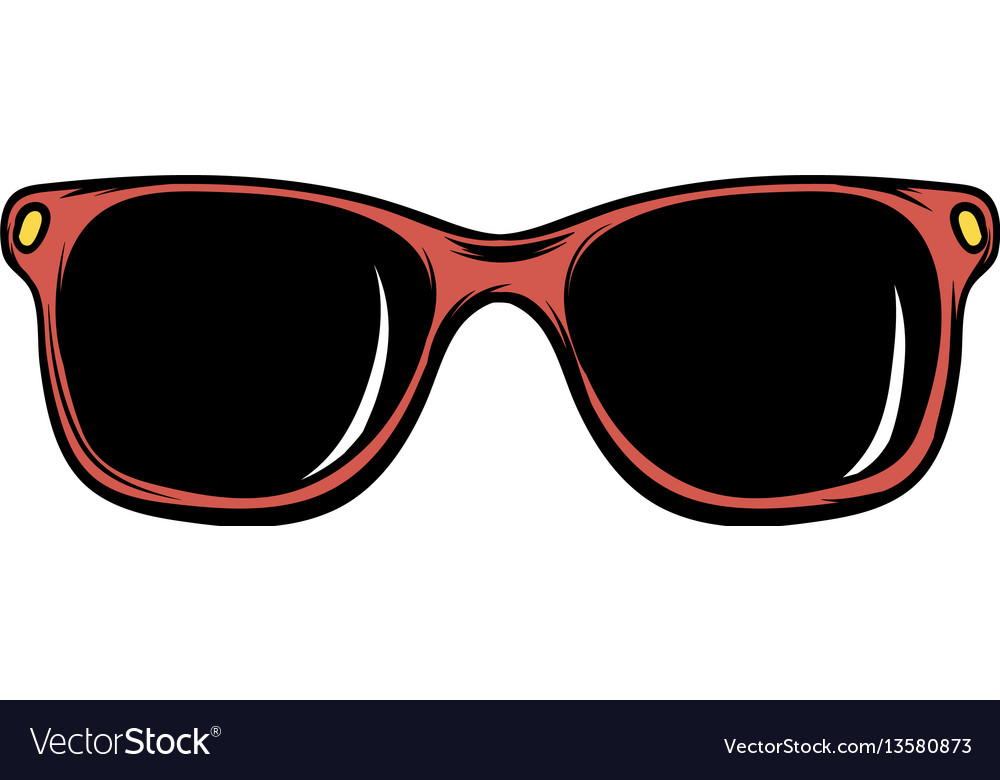 Sunglasses icon cartoon
