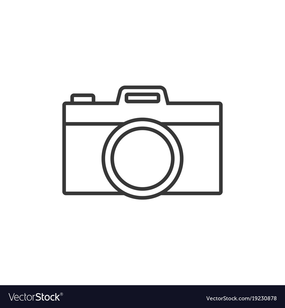 Camera simple outline icon Royalty Free Vector Image