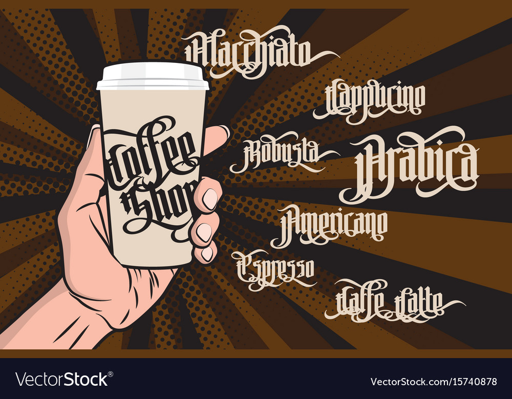 Coffee gothic labels