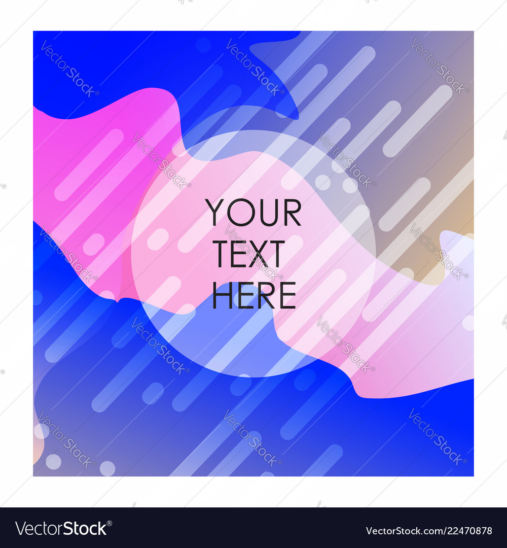 Colorful background with typography design