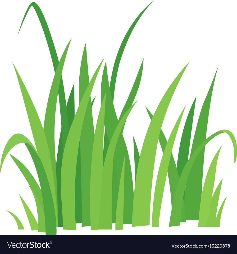 grass icon cartoon style royalty free vector image vectorstock