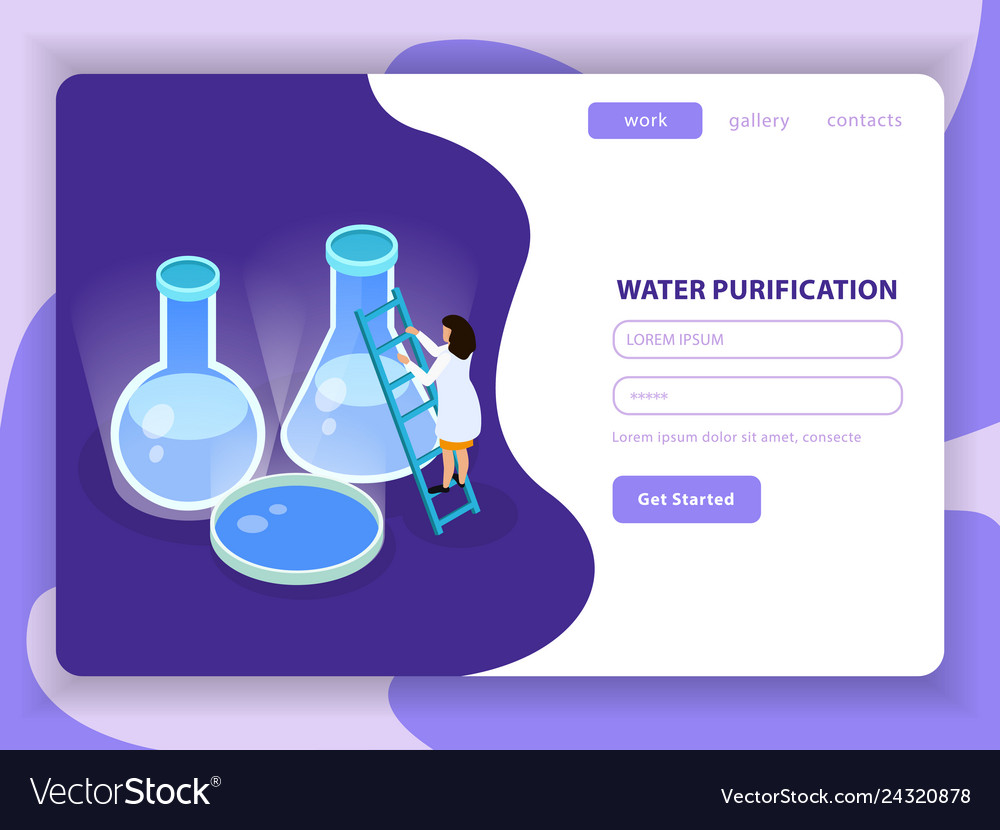 Water purification isometric colored composition