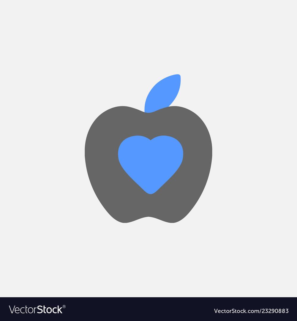 Apple flat icon isolated on white background
