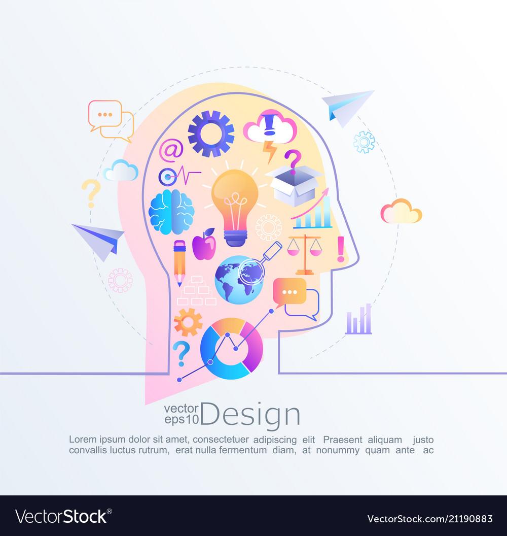 Creative concept of idea