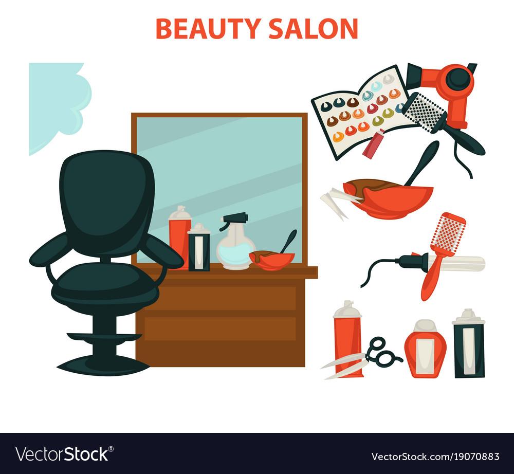 Hairdresser Or Hair Beauty Salon Hairdressing Vector Image