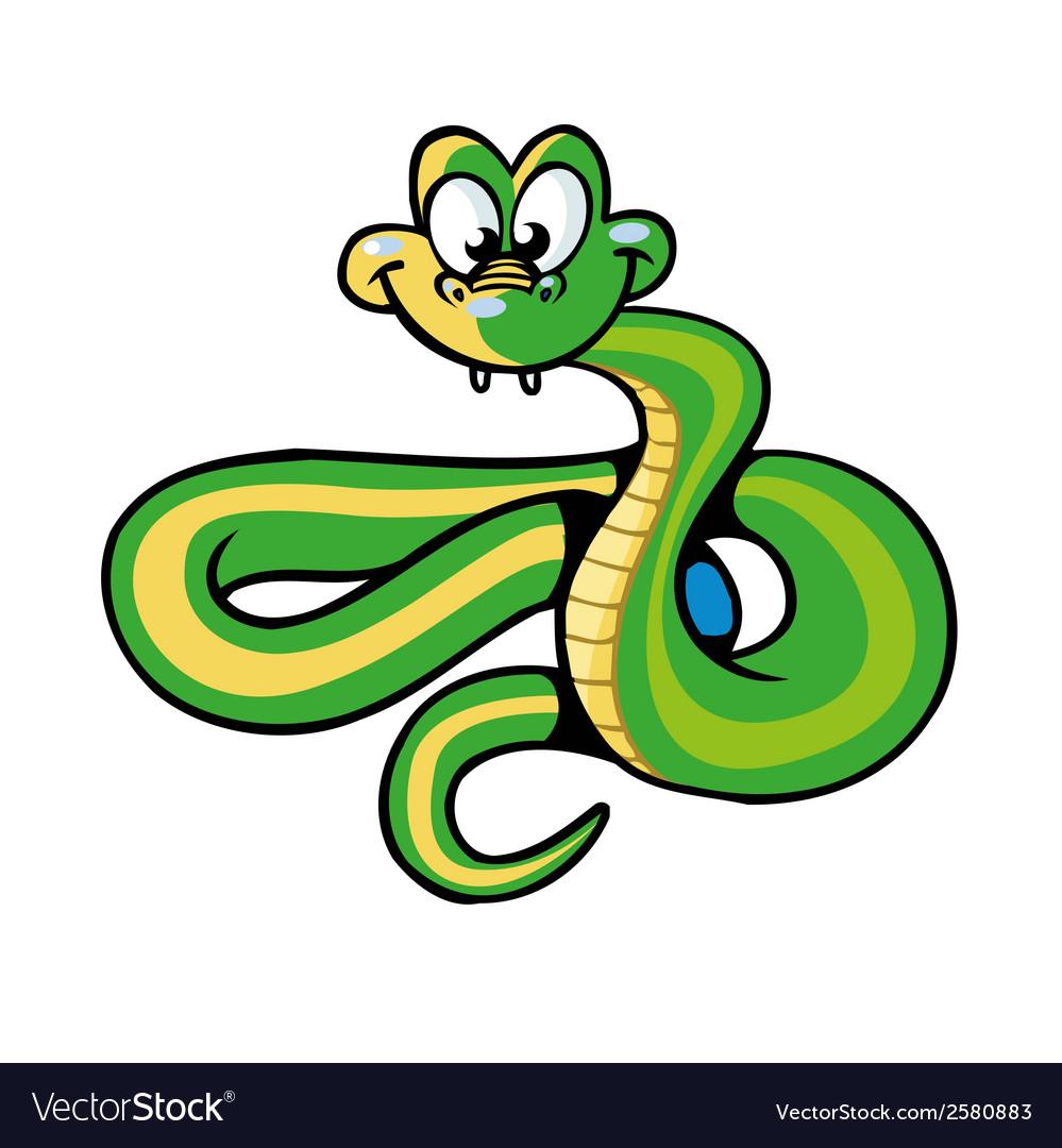 snake cartoon royalty free vector image vectorstock rh vectorstock com snake vector art vector snake