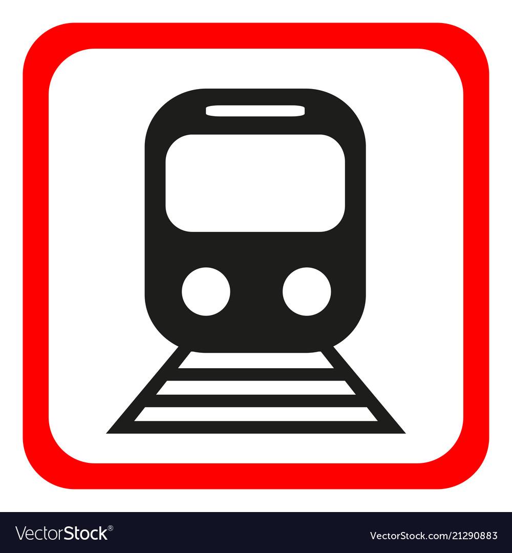 Train icon metro and tram railroad symbol