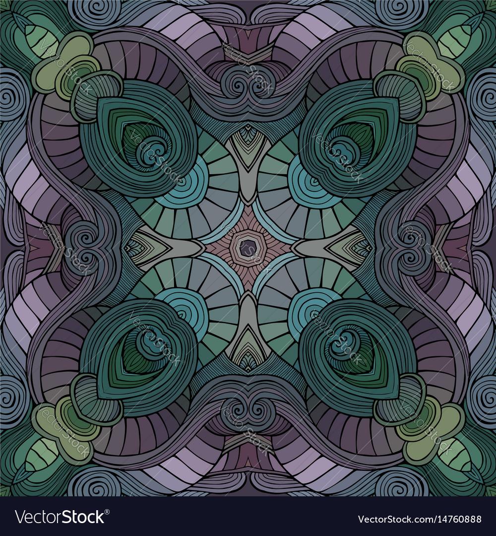 Abstract decorative ethnic hand drawn