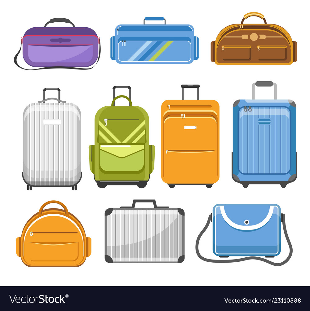 Bags different type models of travel bag Vector Image cc7e5cf1c9467
