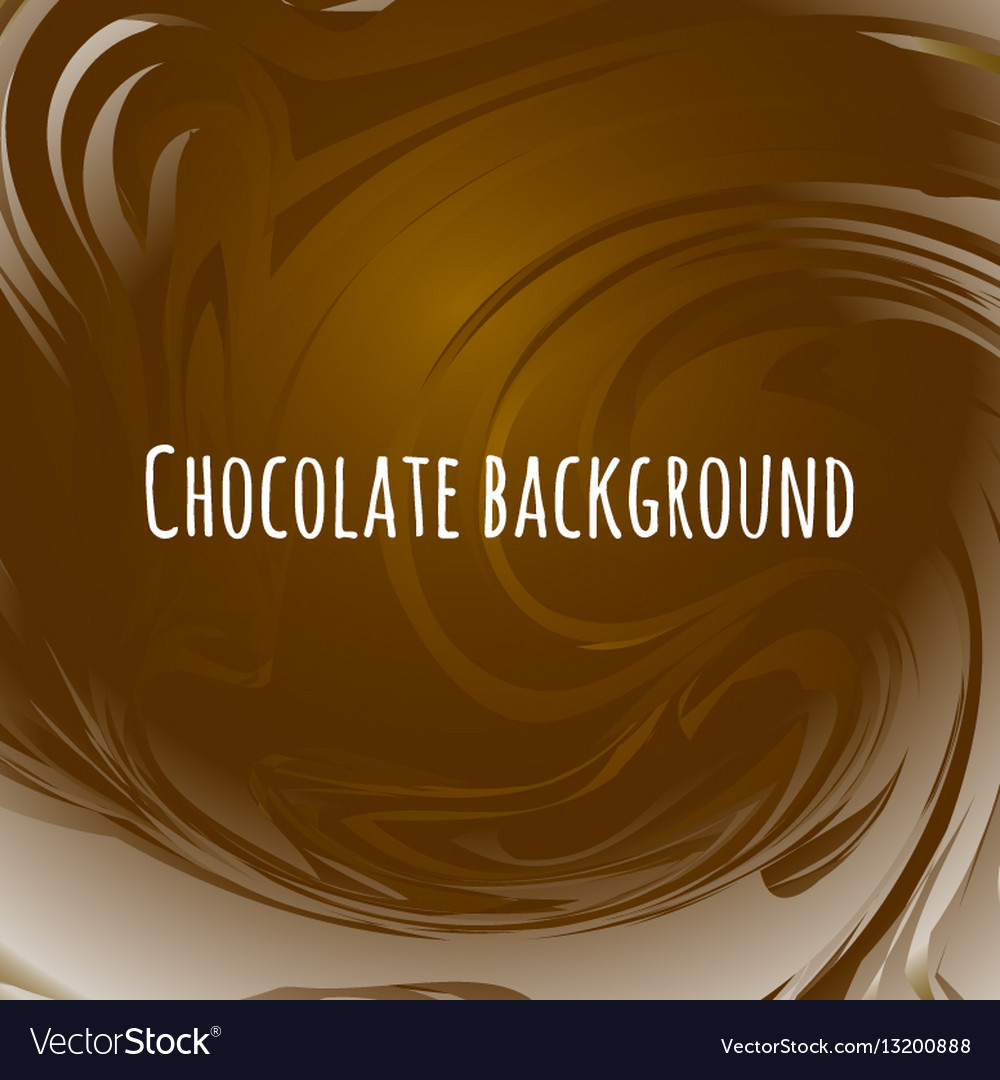Chocolate abstract background brown wavy melted
