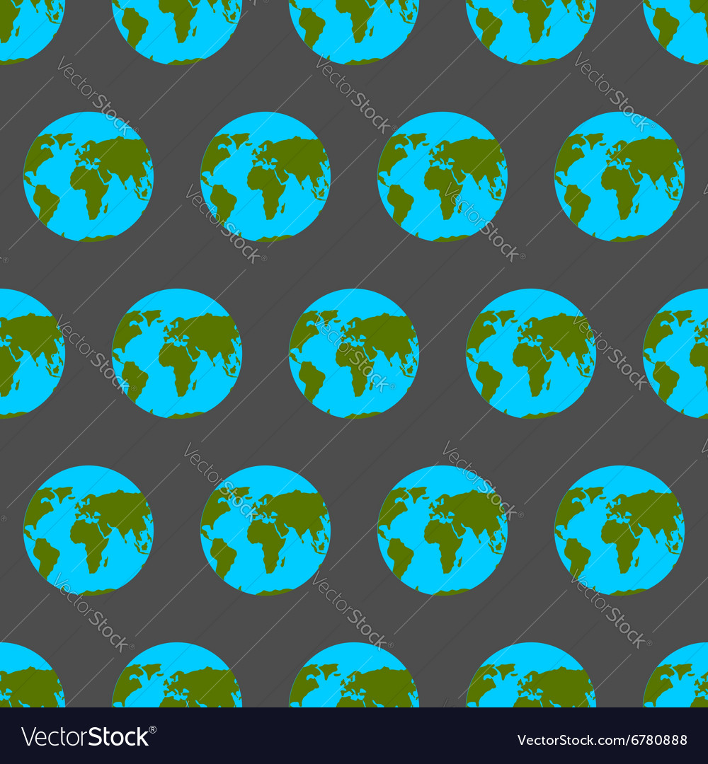 Planet Earth with continents and oceans seamless