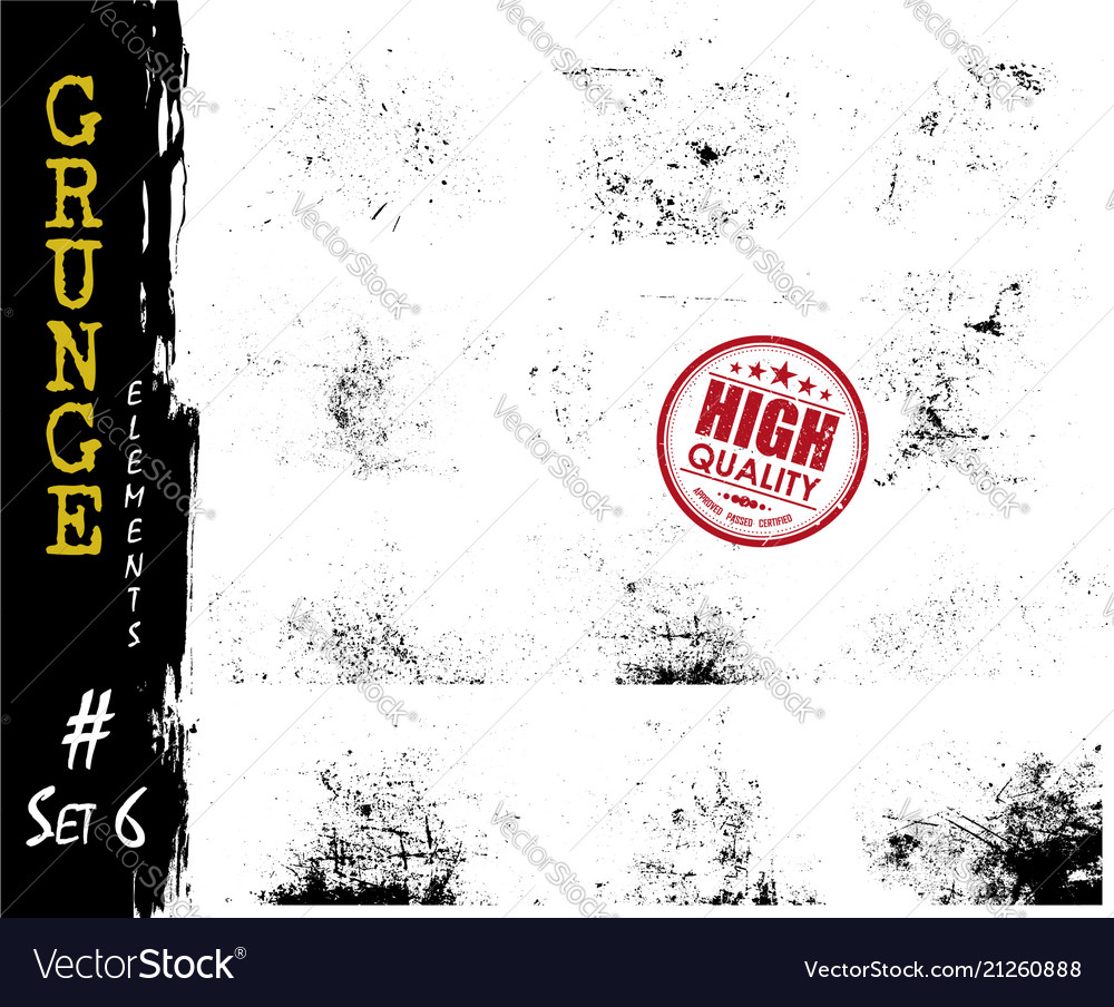 Set of grunge style dust particle and scratch
