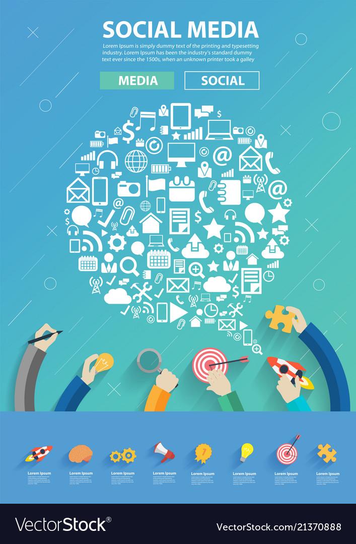 Speech bubble shape technology social media icons