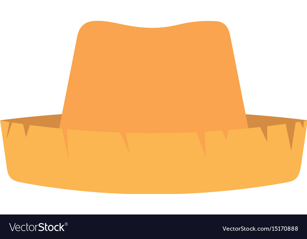 White background with straw hat Royalty Free Vector Image 137c8b91b2ad