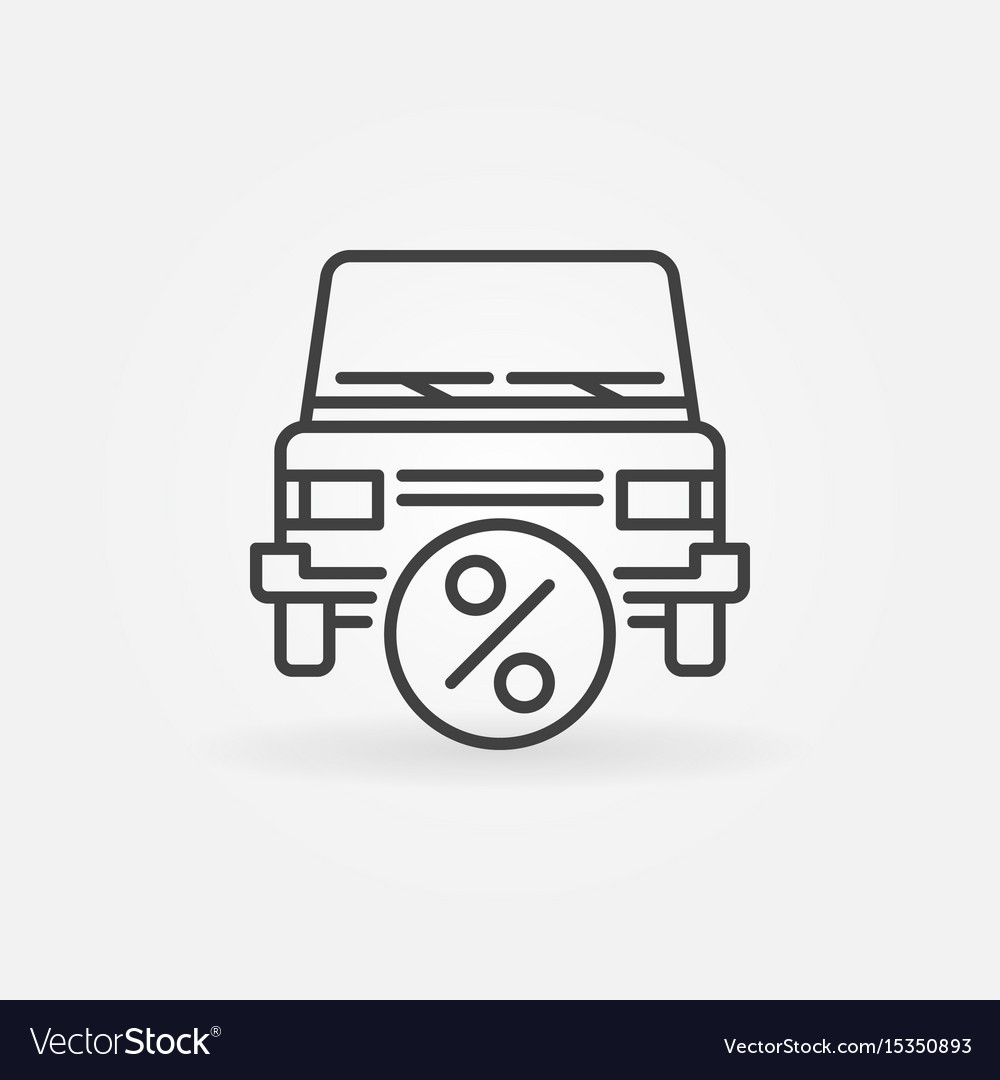 Car leasing icon vector image