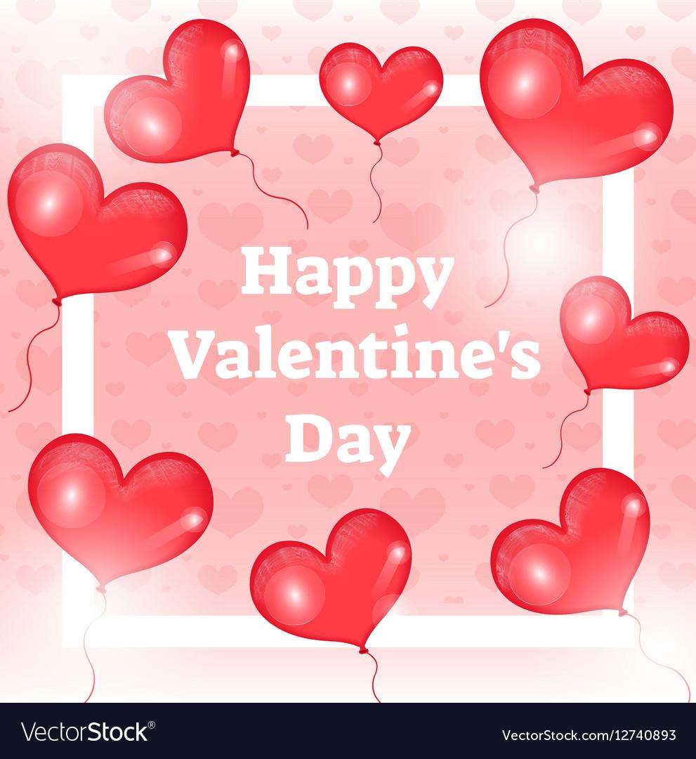 Happy Valentine s day card template invitation