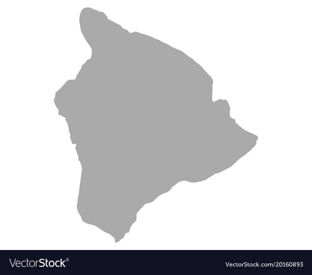 Map Of Hawaii Royalty Free Vector Image Vectorstock