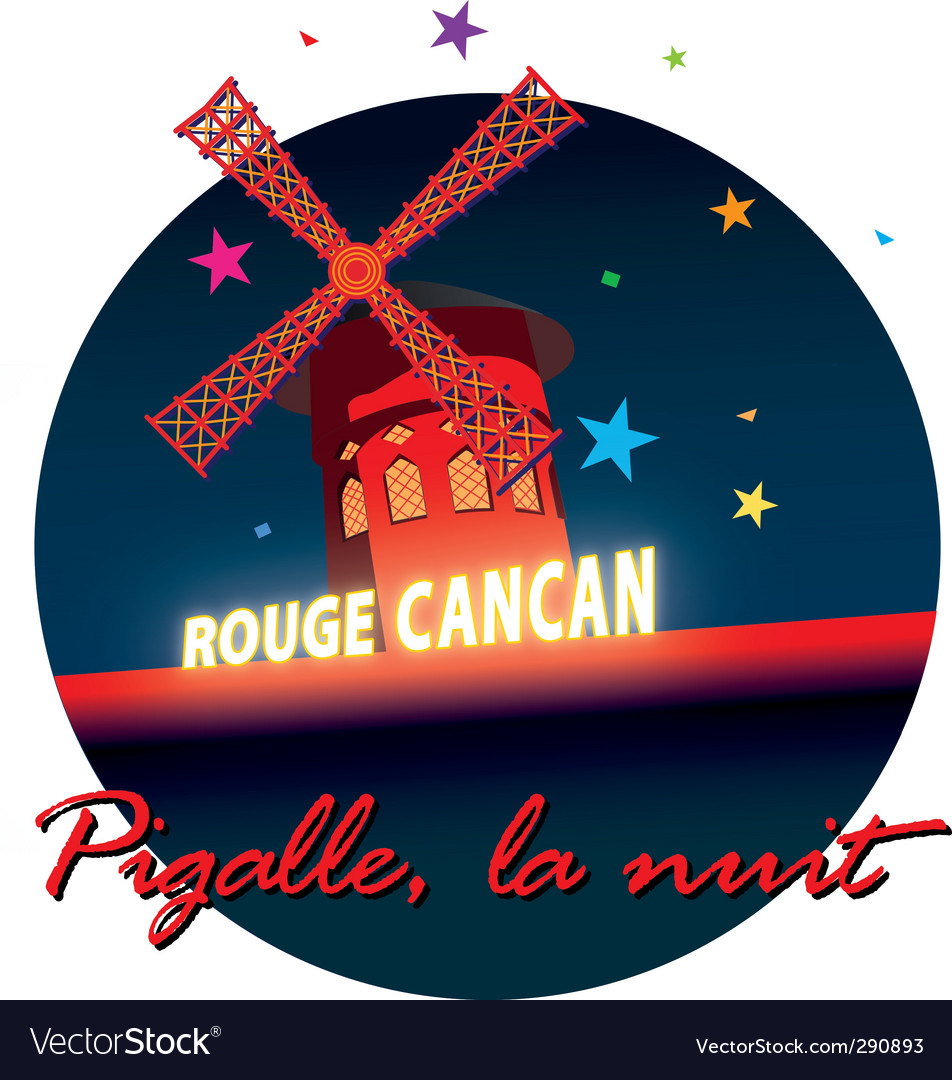 Moulin rouge vector image