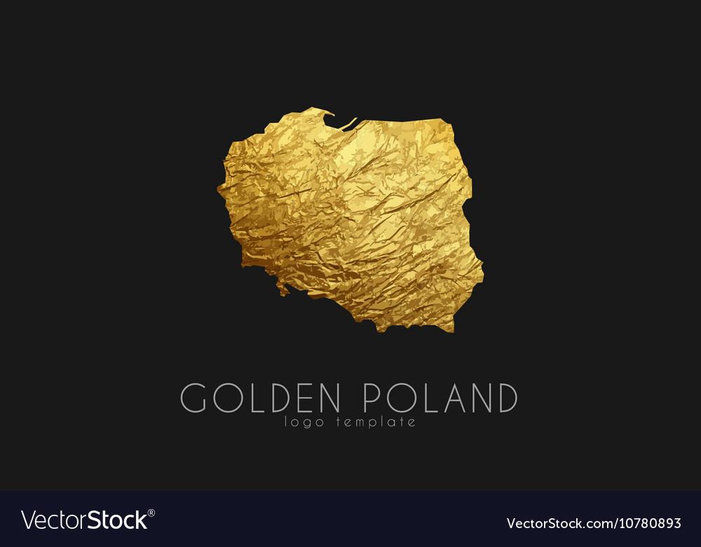 Poland map Golden Poland logo Creative Poland