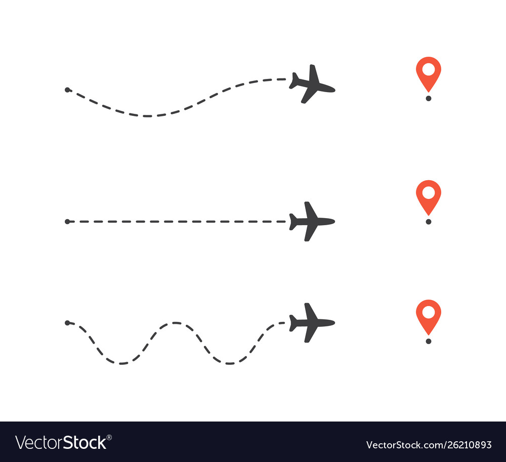 Set airplane path to location pin plane route