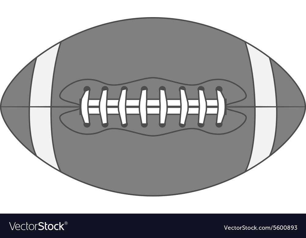 Vintage american Football Ball vector image