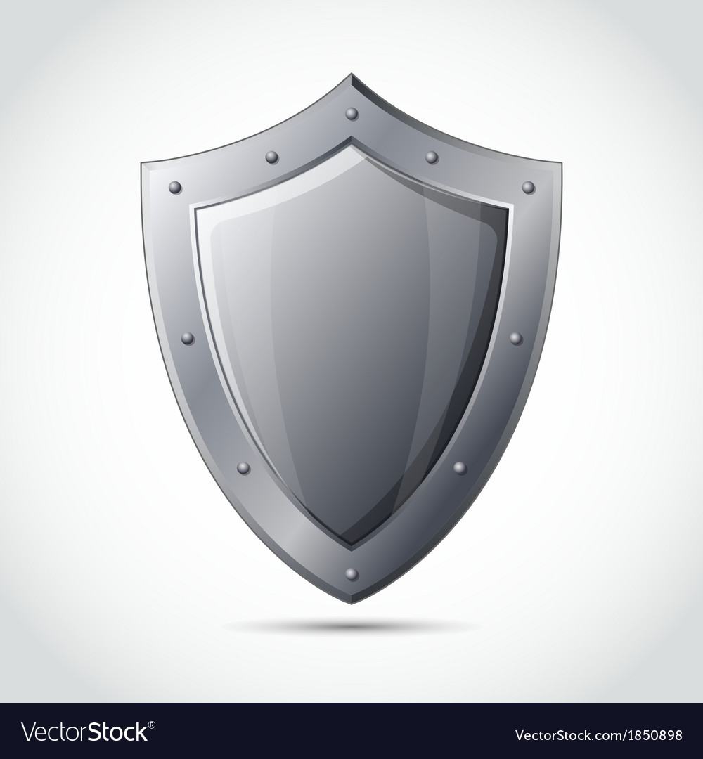Blank shield business protection emblem
