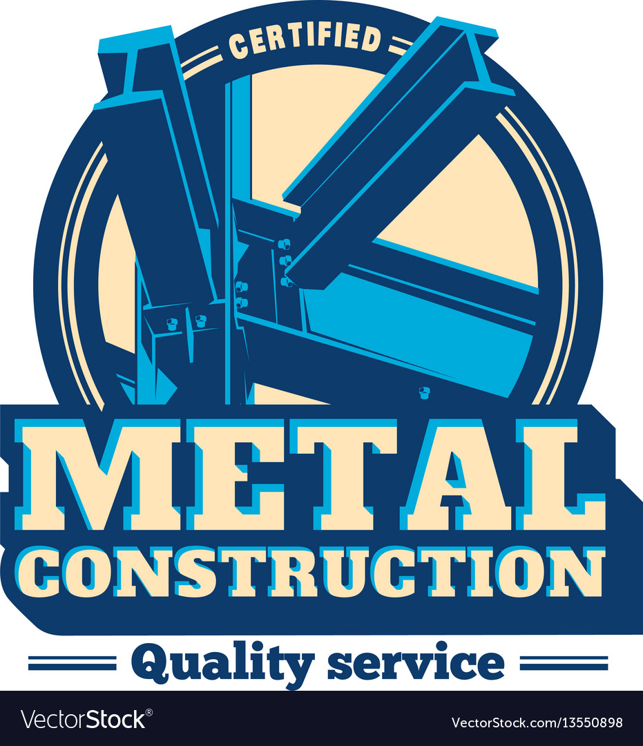 Building construction metal frame logo vector image