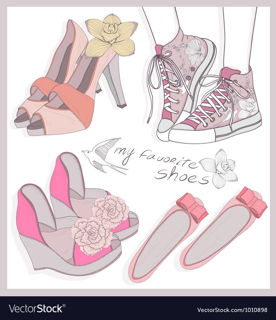 Fashion shoes set
