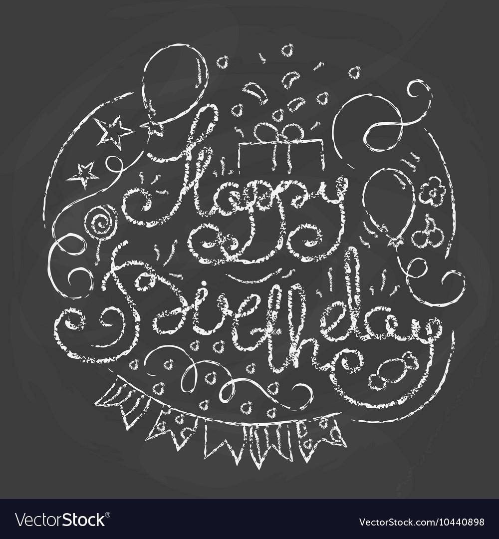 Happy birthday typographics design