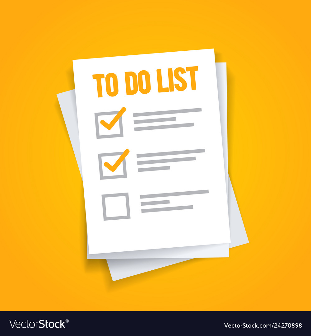 Paper sheets to do list icon concept