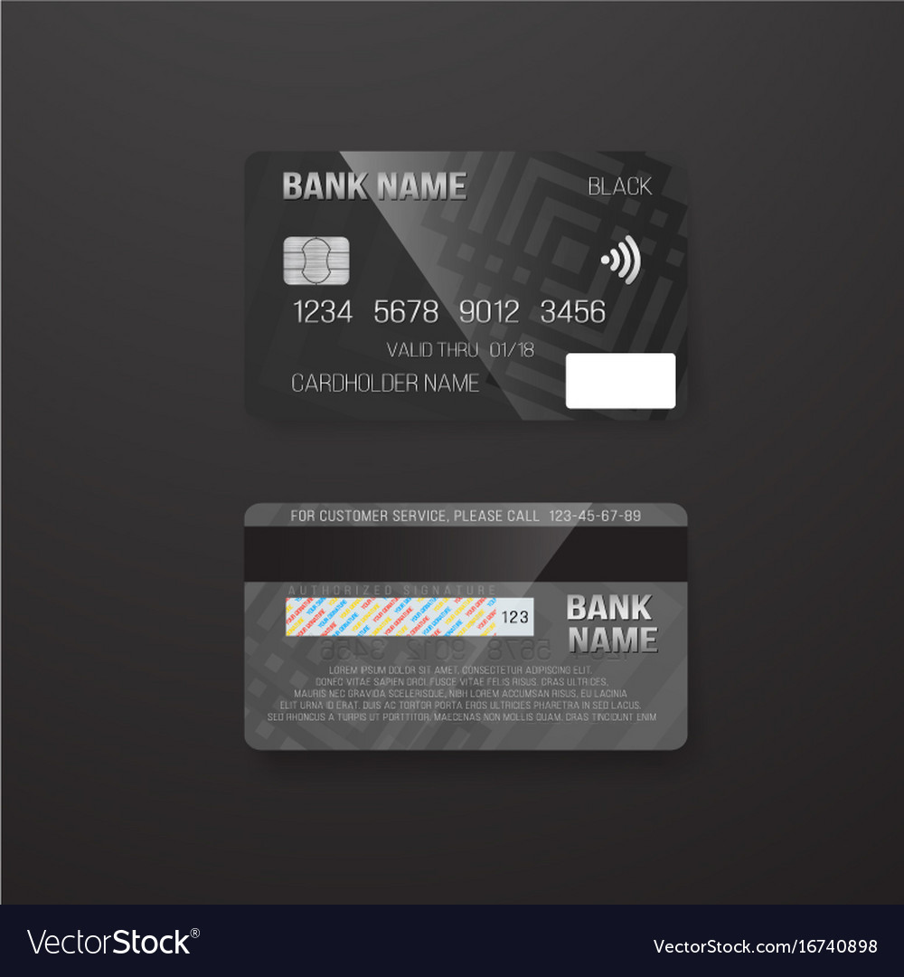 Photorealistic credit card on dark background