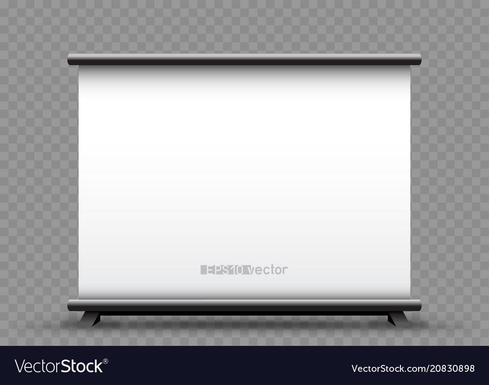 Roll up wide banner transparent background