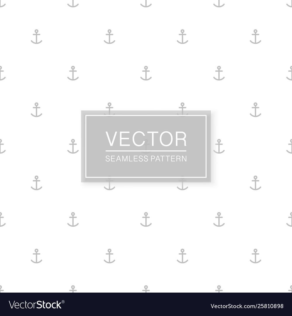 Stylish seamless anchors pattern - simple