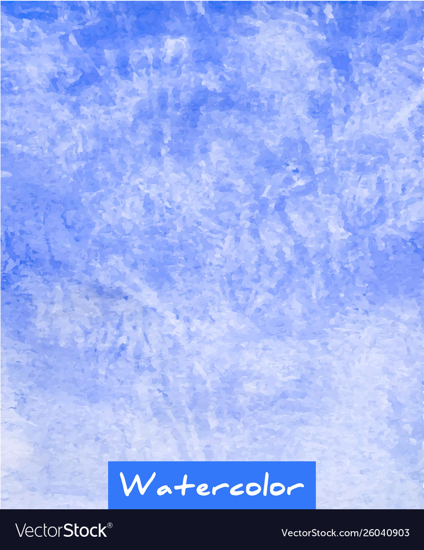 Blue abstract watercolor hand draw background