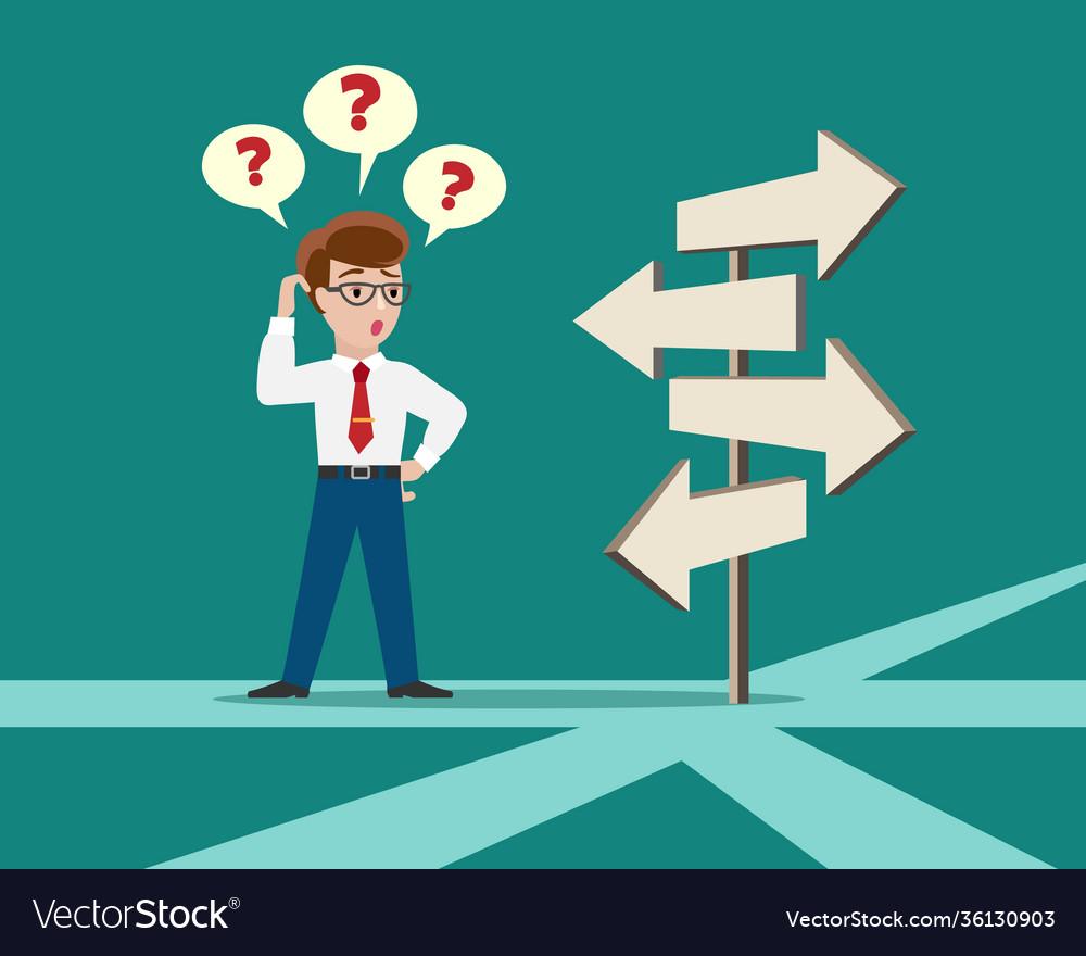 Crossroad direction choice