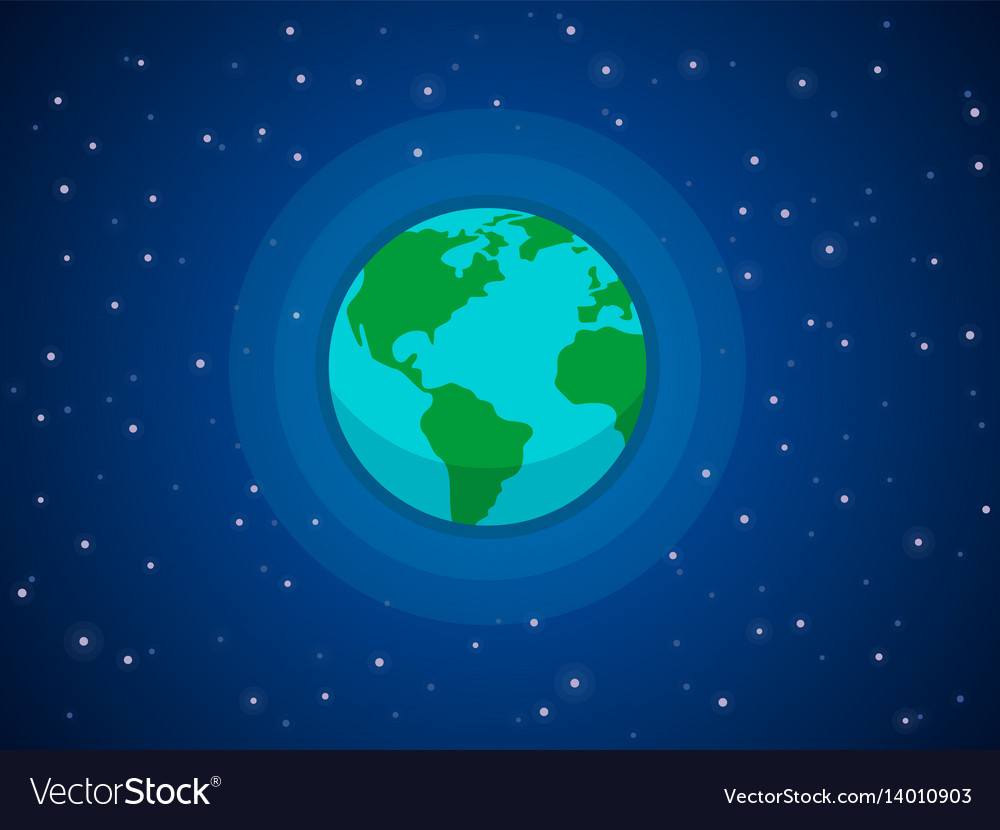 Globe in space vector image