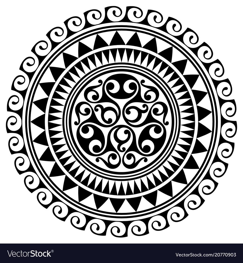 Polynesian Tattoo Design Ancient Polynesian Vector Image