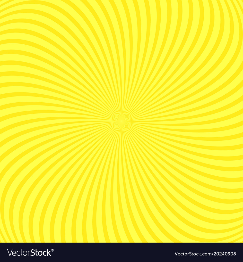 Abstract spiral ray background from spinned rays vector image