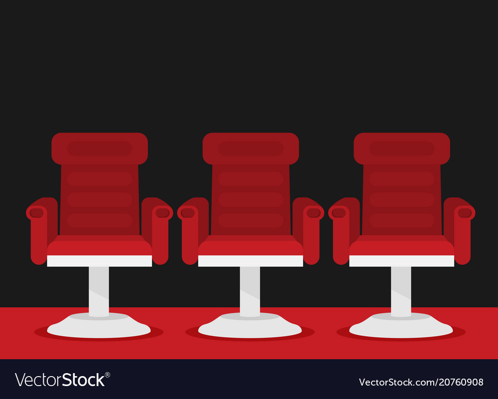 Attractive Cinema Chairs Vector Image