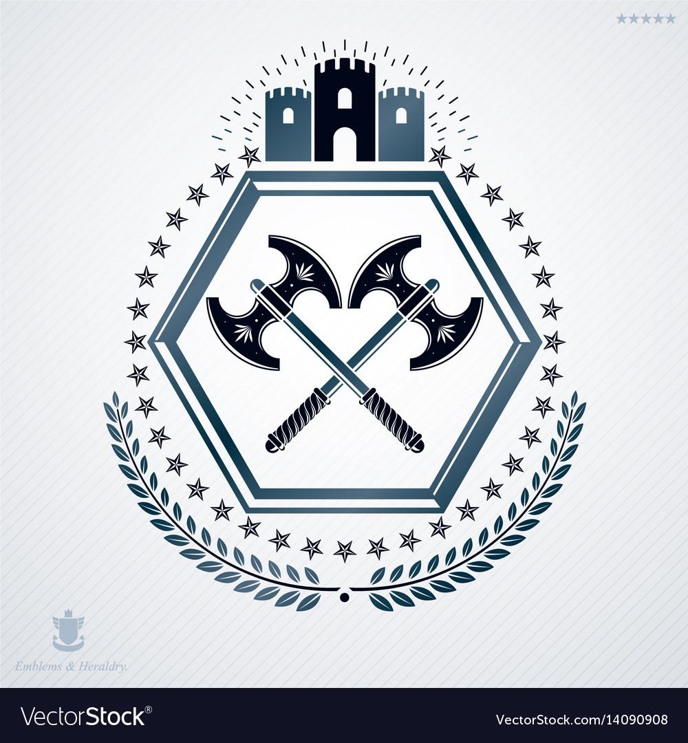 Classy emblem heraldic coat of arms